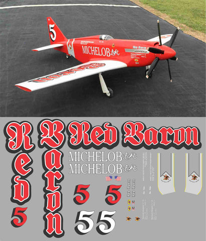 P-51 Red Baron Racer Graphics Set