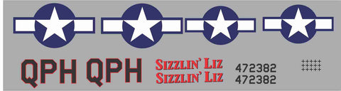 P-51D Sizzlin' Liz Graphics Set