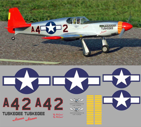 P-51C Tuskegee Airmen CAF Graphics Set