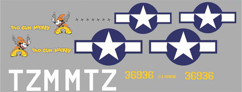 P-51B Two Gun Mickey Graphics Set