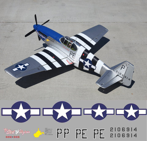 "P-51B West ""by Gawd"" Virginian Graphics Set"