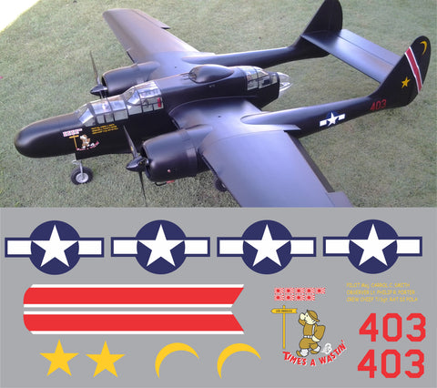 P-61 Times 'A Wastin' Graphics Set