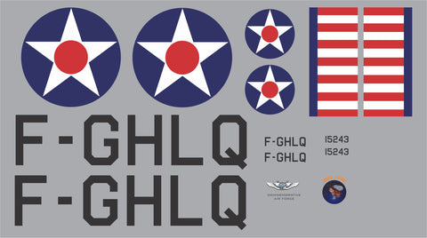Piper Cub Spirit of Lewis F-GHLQ Graphics Set