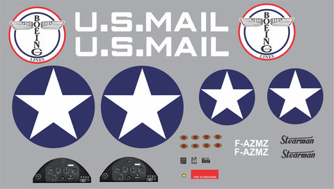 PT-17 Stearman U.S. Mail F-AZMZ Graphics Set