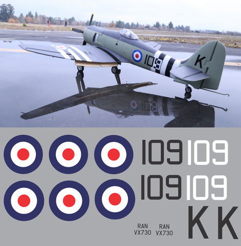 Sea Fury RAN VX730 Graphics Set