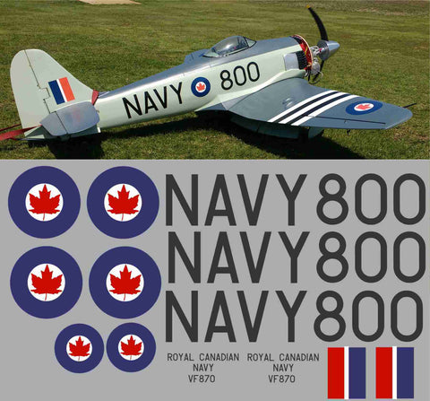 Sea Fury RCN #800 Graphics Set