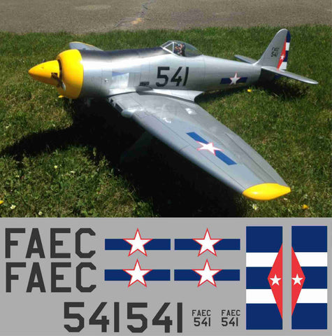 Sea Fury Cuban Air Force #541 Graphics Set