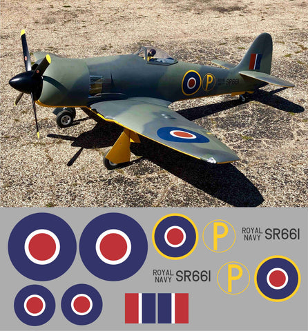 Sea Fury Royal Navy SR661 Graphics Set