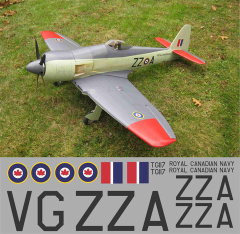 Sea Fury ZZ-A Graphics Set