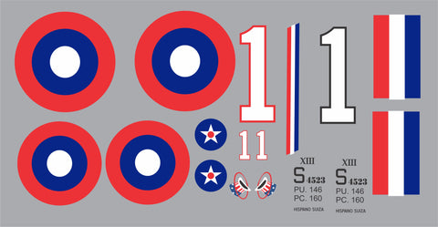SPAD XIII Eddie Rickenbacker Graphics Set