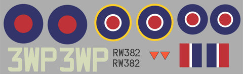 Spitfire 3WP RW382 Graphics Set