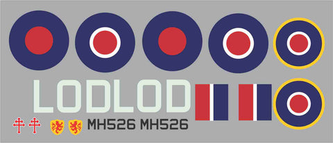 Spitfire LOD  MH526 Graphics Set