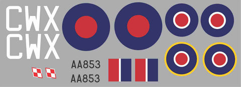 Spitfire CWX AA853 Graphics Set