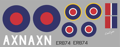 Spitfire AXN  ER874 Graphics Set