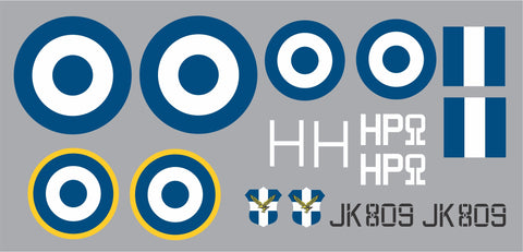 "Spitfire JK 809 Hellenic Airforce ""Hero"" Graphics Set"