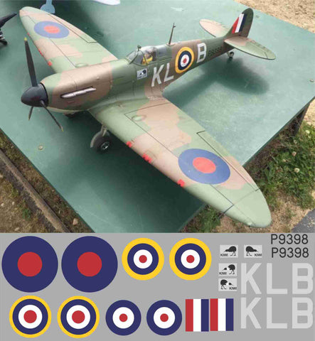 "Spitfire ""Kiwi"" KLB  P9398 Graphics Set"