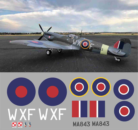 Spitfire WXF MA843 Graphics Set