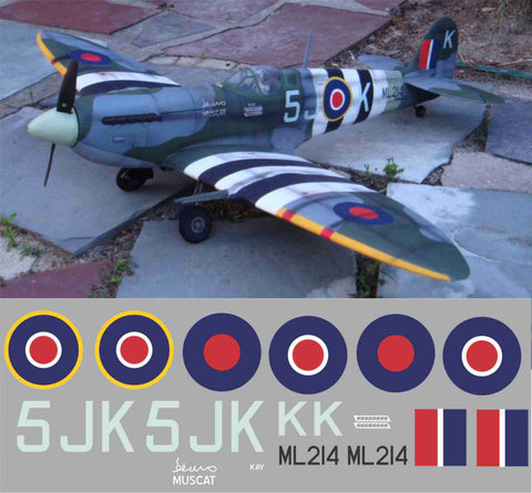 "Spitfire ""Muscat Kay"" 5JK  ML214 Graphics Set"