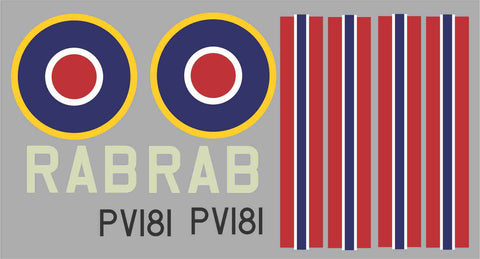 Spitfire Norwejian Air Force RAB  PV181 Graphics Set