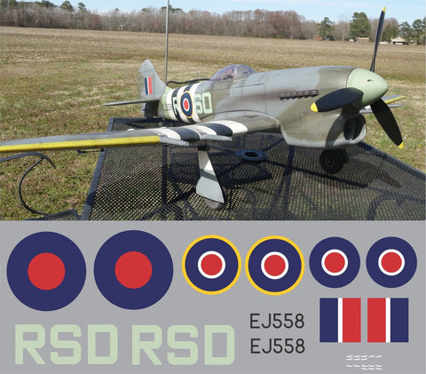 Hawker Tempest RSD EJ558 Graphics Set