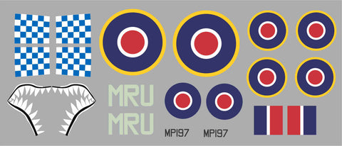 Hawker Typhoon MRU MP197 Graphics Set