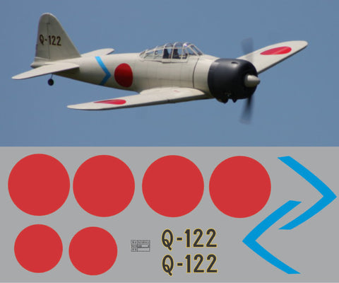 A6M Zero Q-122 Graphics Set