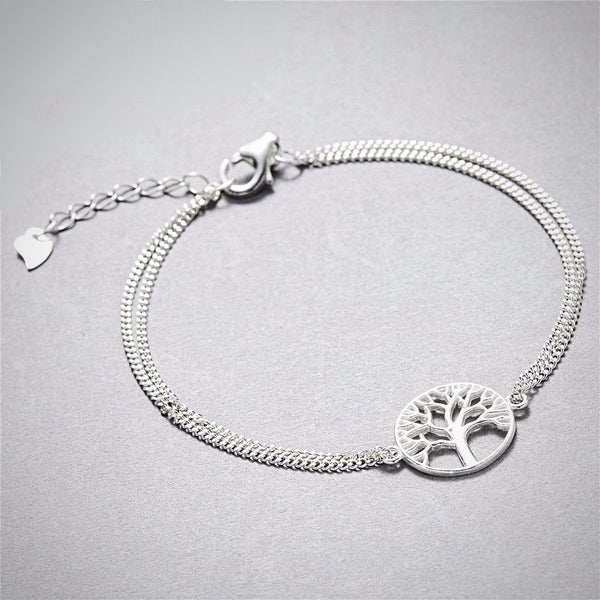 925 Sterling Silver Tree of Life Bracelet - Yoga Jewelry - Prima Petal