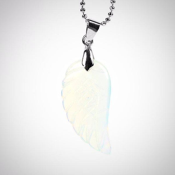 Opal Angel Wing Pendant - Prima Petal - Yoga Jewelry