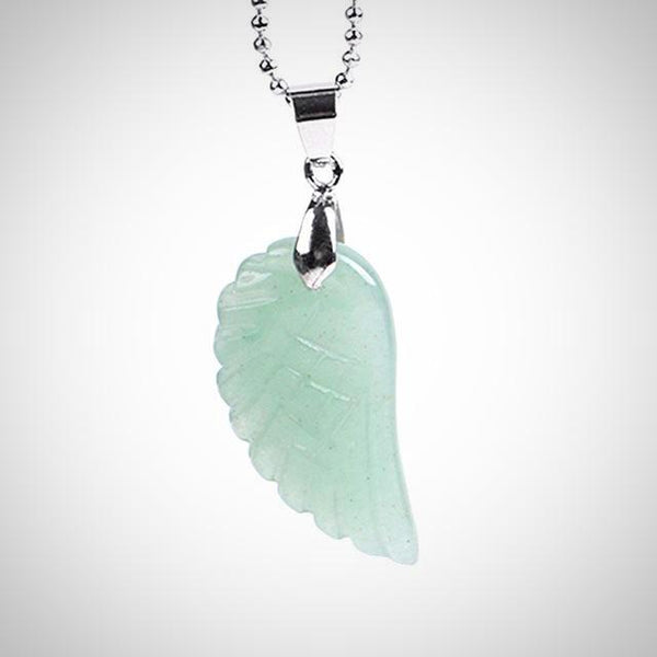Green Aventurine Angel Wing Pendant