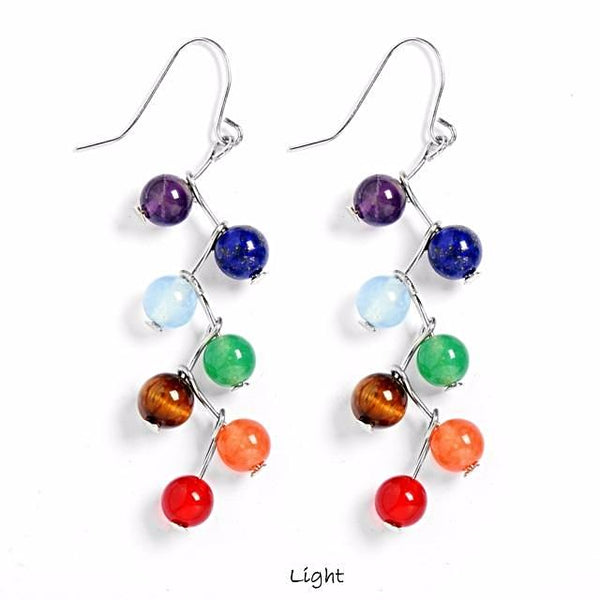 7 Chakra Healing Earrings - Yoga Jewelry - Prima Petal