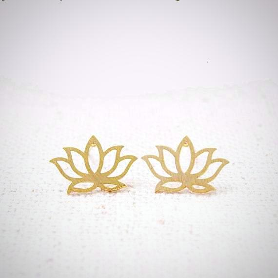 Lotus Stud Earrings - Prima Petal - Yoga Jewelry