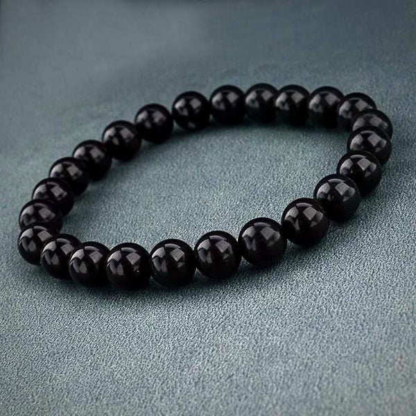 Natural Stone Beads Bracelet - Black - Prima Petal - Yoga Jewelry