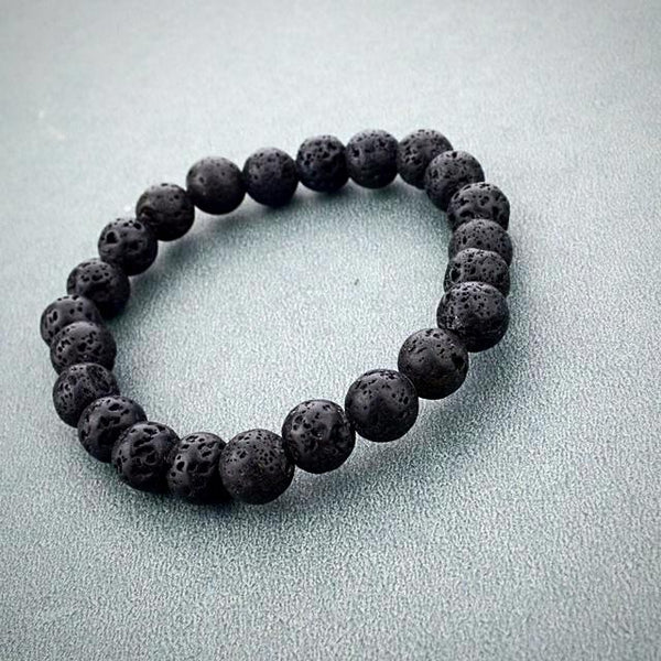 Natural Stone Beads Bracelet - Lava Rock - Prima Petal - Yoga Jewelry