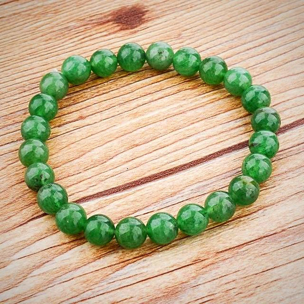 Natural Stone Beads Bracelet - Green - Yoga Jewelry - Prima Petal