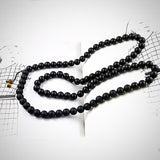 Natural Matte Black Onyx Mala Necklace - Style 1 - Yoga Jewelry - Prima Petal