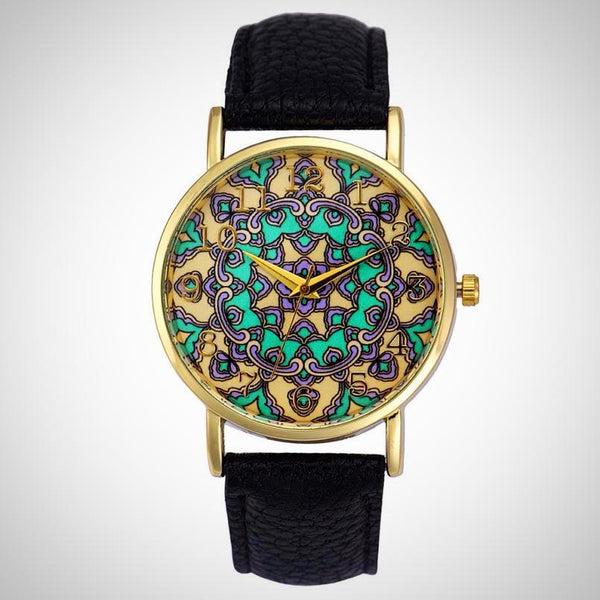 Mandala Wristwatch - Yoga Jewelry - Prima Petal