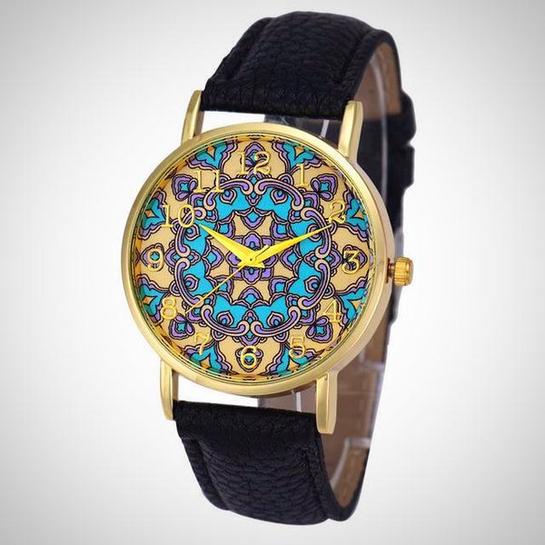Mandala Analog Watch