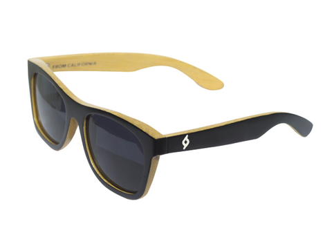 BLACK FACE BAMBOO SUNGLASSES