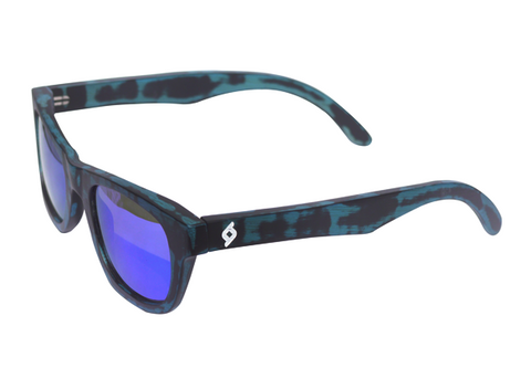 BLACK/BLUE TORTOISE BAMBOO SUNGLASSES