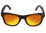 ORANGE/BLACK TORTOISE BAMBOO SUNGLASSES
