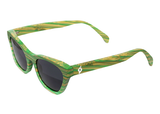 GREEN/NATURAL BAMBOO SUNGLASSES