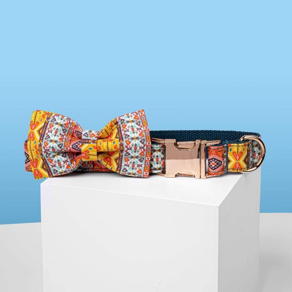 Bohemian Bow Tie Dog Collar - Barker & Bone