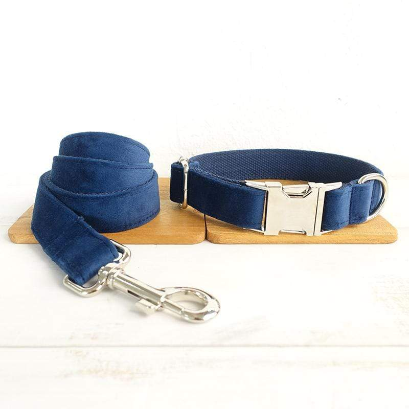 Dark Blue Dog Collar & Leash Set - Barker & Bone