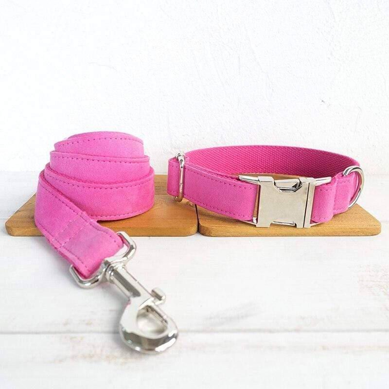 Dog Collar & Leash | Pink - Barker & Bone