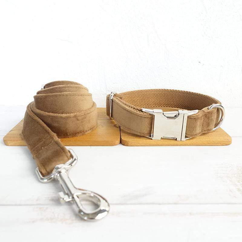 Camel Dog Collar & Leash - Barker & Bone