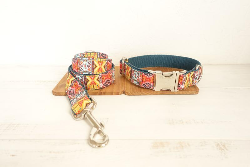 Bohemian Dog Collar & Leash Set - Barker & Bone