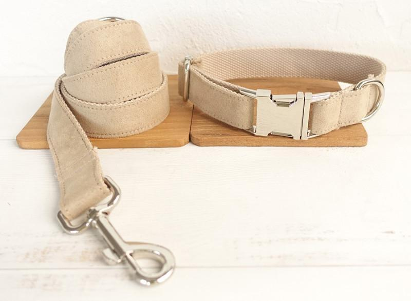 Cream Dog Collar & Leash Set - Barker & Bone