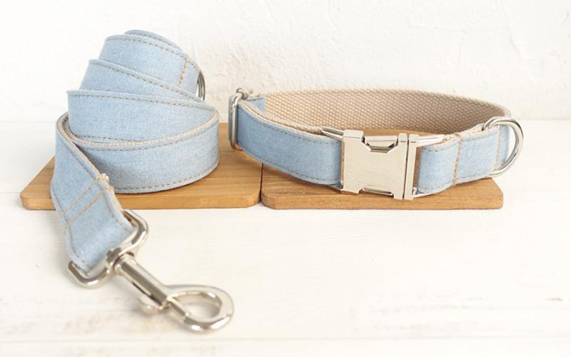 Dog Collar & Leash | Light Denim - Barker & Bone