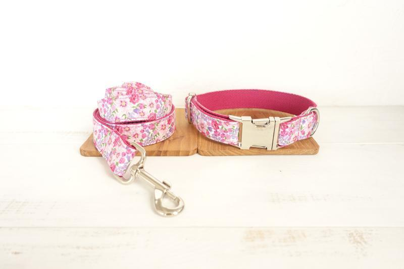Dog Collar & Leash | Pink Flower - Barker & Bone