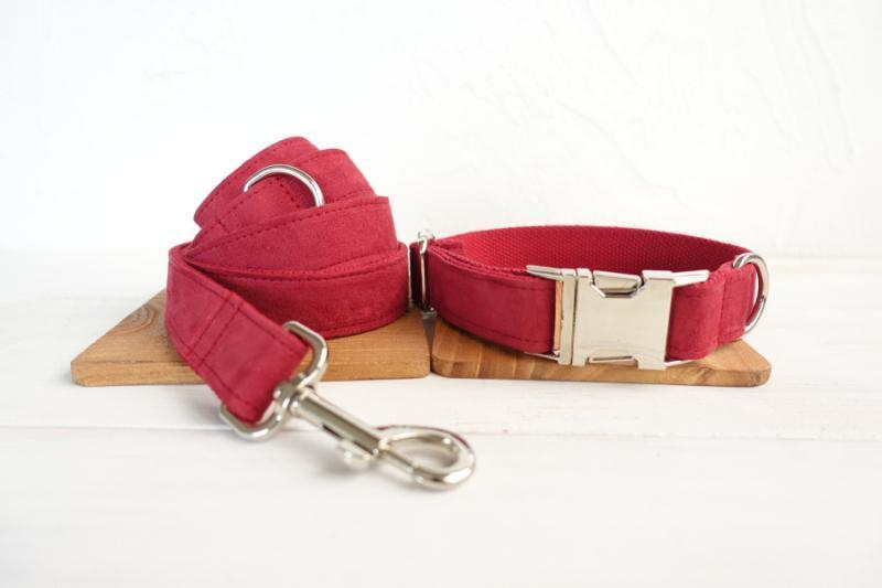Dog Collar & Leash | Red Velvet - Barker & Bone